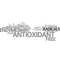 Antioxidant dietary supplement text word cloud vector