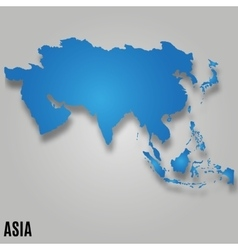 Asia map card vector image