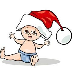 baby boy santa cartoon vector image vector image