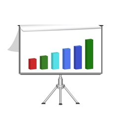 flip chart with diagram vector image vector image