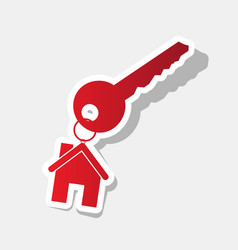 key with keychain as an house sign new vector image