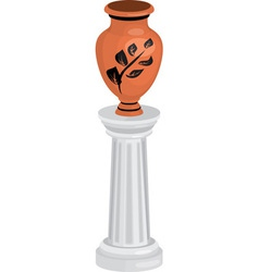 vase on column vector image