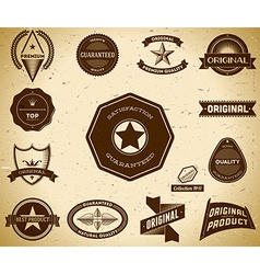 Vintage labels Collection 11 vector image