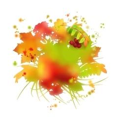 Watercolor autumn foliage vector image