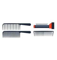 fashion professional comb icon style hairdresser vector image vector image