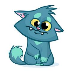 fat cat cartoon vector image
