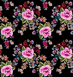 Flamenco print - seamless background vector image vector image