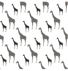 seamless pattern with gray and black silhouette vector image