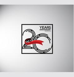 20 years anniversary logotype flat style vector