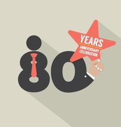 80 Years Anniversary Typography Design Illu vector image