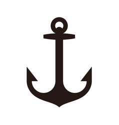anchor sign vector image