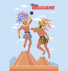 Ancient maya sports background vector
