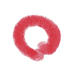 Art beauty design lipstick red mark vector
