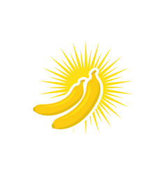 banana logo template icon design vector image