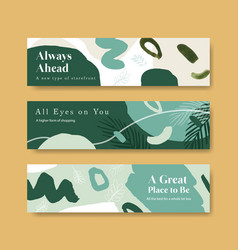 Banner template with shopping design for leaflet vector
