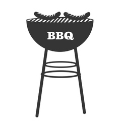 BBq grill theme design icon vector image