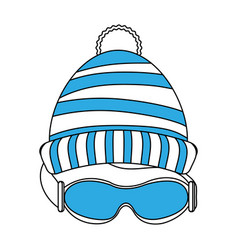 Beanie hat and googles vector