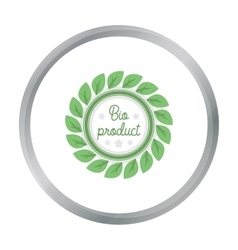 Bio-product icon in cartoon style isolated on vector