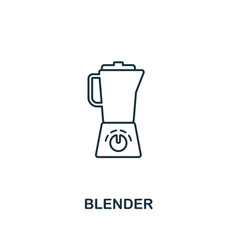 Blender icon thin style design from household vector