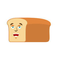 bread happy emoji piece of bread laughs emotion vector image