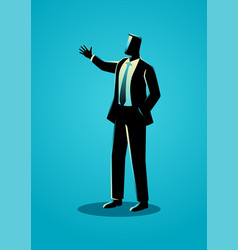 Businessman gesturing with hand vector