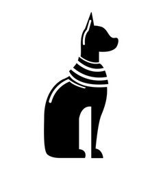 Cat egypt icon simple black style vector