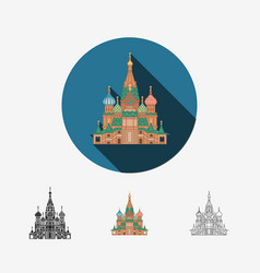 Cathedral in moscow saint basils cathedral vector