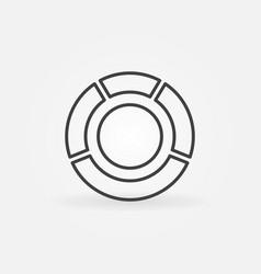 circle diagram icon vector image
