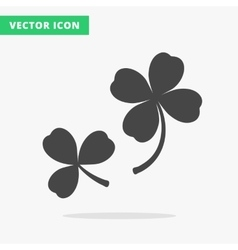 Clover silhouettes sign vector