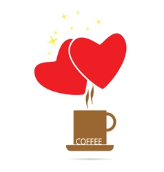 coffee love color vector image