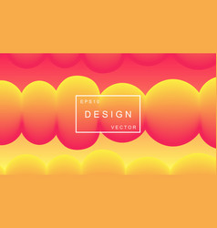Colorful background abstract shapes composition vector