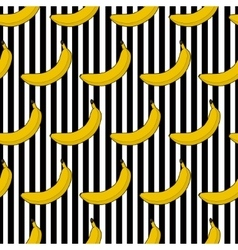 Colorful seamless pattern banana stripes vector image