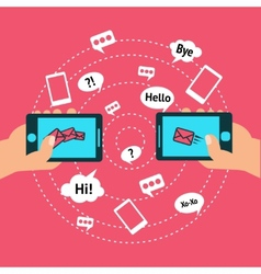Communication and smart phone vector