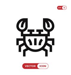 Crustacean icon vector