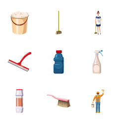 Detergents icons set cartoon style vector