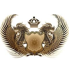 Dragon Heraldry Design vector