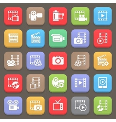 Film and movie icons for web or mobile vector