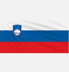 Flag slovenia swaying in wind realistic vector