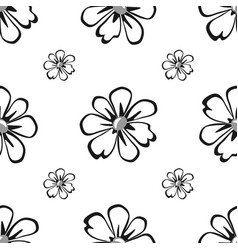floral geometric seamless pattern fashion graphic vector image