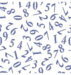Grunge Numbers Seamless Pattern vector image