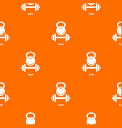 Gym metall pattern orange vector