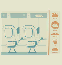 In-flight meal vector