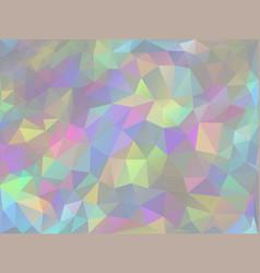 iridescent geometric background vector image
