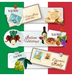 Italy Touristic Banners vector