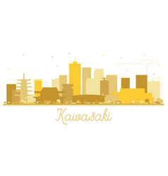 Kawasaki japan city skyline silhouette with vector