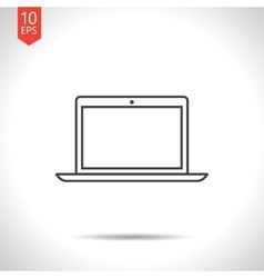 laptop icon vector image