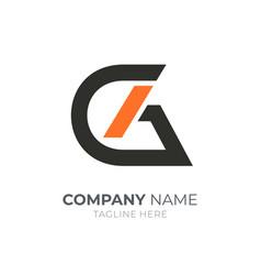 Letter g a logo vector