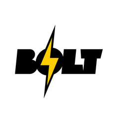 Lightning bolt symbol with text vector