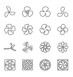 Linear fan icons vector
