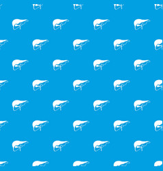 Liver pattern seamless blue vector